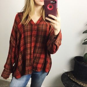Lucky Brand flannel blouse
